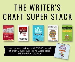 Banner showing sample books from The Writer's Craft Super Stack.
