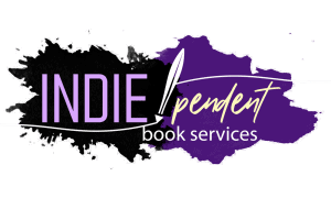 Logo showing IndiePendant Book Services on a purple background with Indie emphasized. Click on image to go to the website